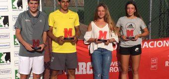 Diego Barreto y Lucía Santos ganadores del Torneo Marca Villanueva