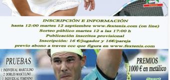 """Campeonato de Extremadura de Absoluto """"Trofeo Liberbank"""" 16 al 24 de Septiembre en el C.T.El Corzo"""