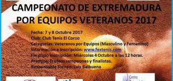 Campeonato de Extremadura por Equipos Veteranos 7 y 8 Octubre El Corzo