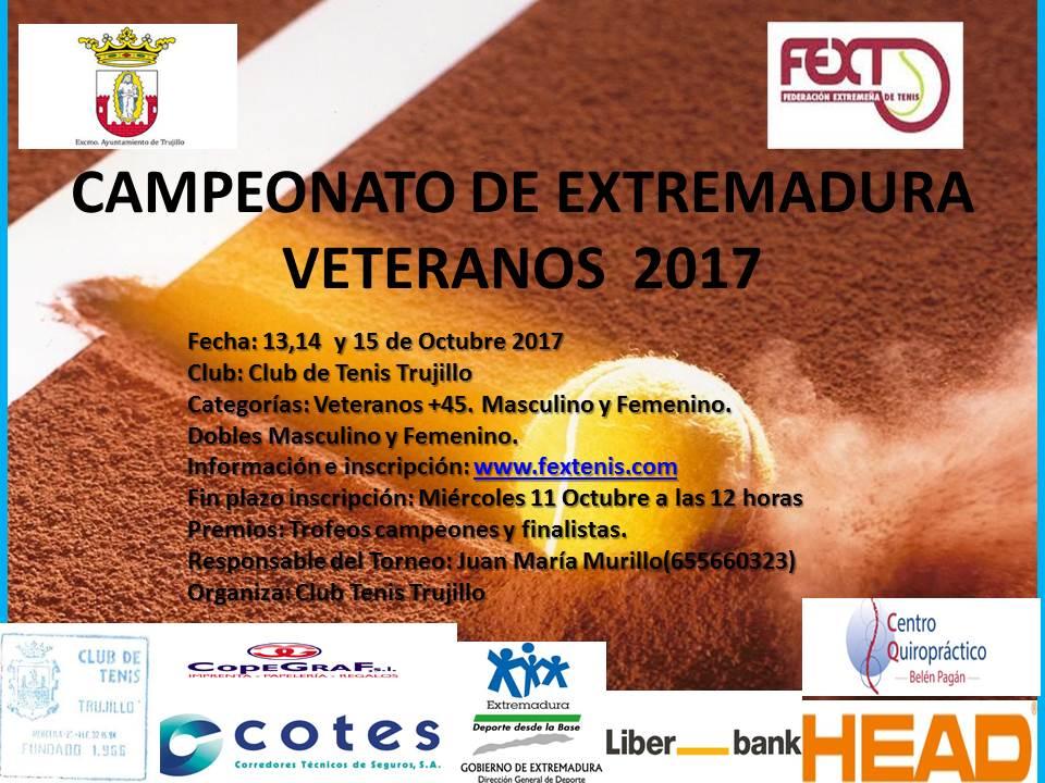 Campeonato de Extremadura Veteranos +45 Club Tenis Trujillo