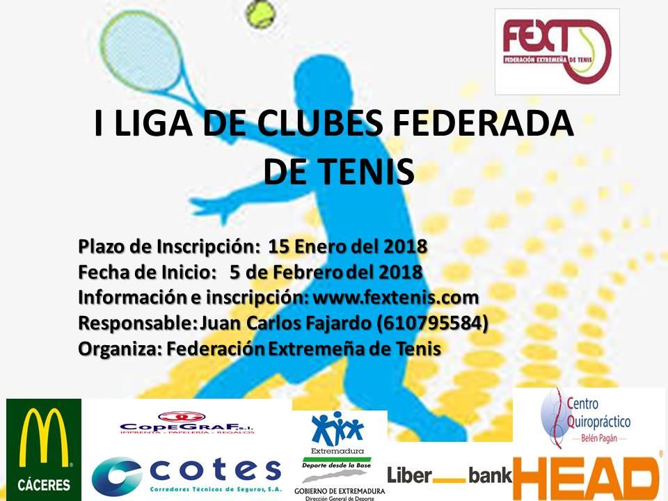 I Liga Federada por Equipos Tenis 2018