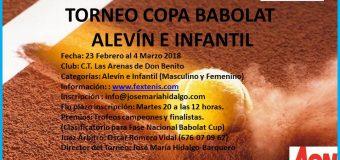 Copa Babolat Infantil y Alevín del 23 Febrero al 4 de Marzo C.T.Las Arenas