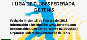Calendario de la I Liga Federada por Equipos Tenis 2018