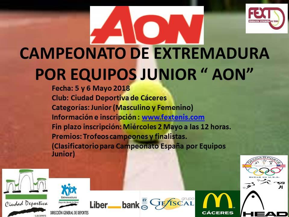"""Campeonato de Extremadura por Equipos Junior """"AON"""" 5 y 6 Mayoad Deportiva de Cáceres"""