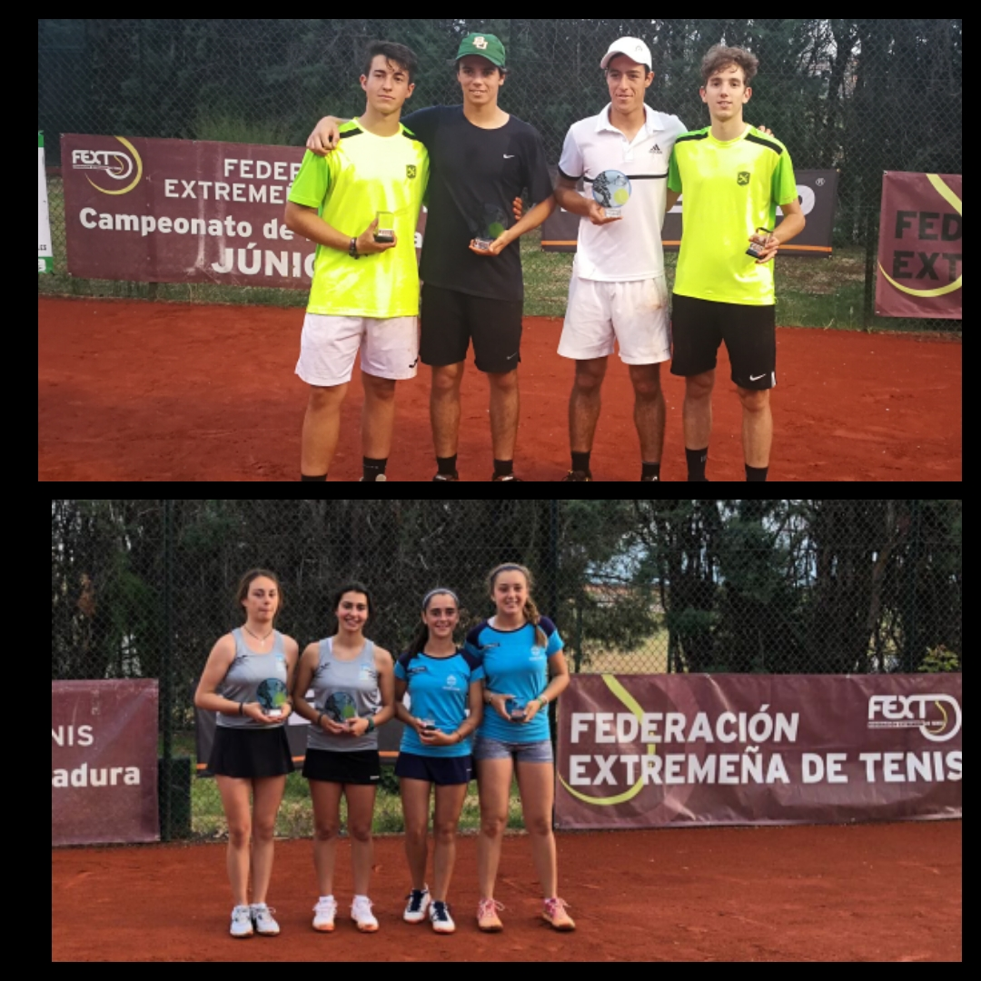 Campeones de dobles en categoría junior