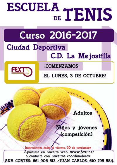 Escuela de TENIS CURSO 2016/2017