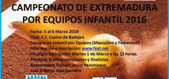 SportOcio y T.C.Villanueva Campeones de Extremadura Infantil por Equipos  en el C.T. Casino de Badajoz