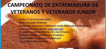 Víctor Nacarino y Ángel Zambrano Campeones de Extremadura de Veteranos y Veteranos Junior