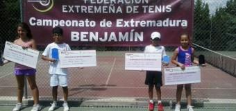 Raúl Jerez y Lidia Gómez Campeones de Extremadura Benjamín 2014