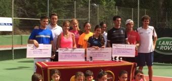 Ana Morgado y Alberto Barroso Campeones de  Extremadura Absoluto de Tenis 2014