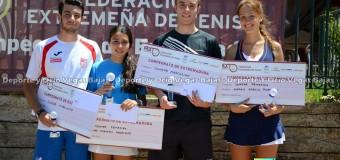 Ana Morgado y Cristobal Castillo Campeones de Extremadura Junior  en Montijo
